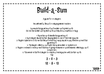 Safari Build-a-Sum Game