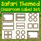 Safari Classroom Label Set Plus Editable Files
