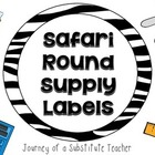 Safari Round Supply Labels