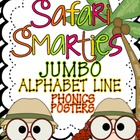 Safari Smarties JUMBO Alphabet Line: A Phonics Poster Set