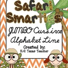 Safari Smarties JUMBO Cursive Alphabet Line: A Phonics Poster Set
