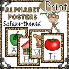 Safari Themed Alphabet Posters