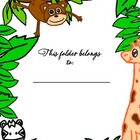Safari cover sheet for folders, classroom centers