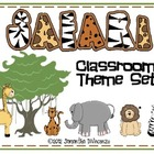 Safari or Jungle Themed Classroom Set