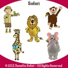 Safari Clip Art by Jeanette Baker