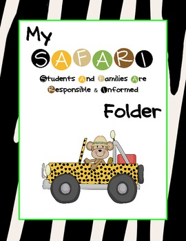Safari/Jungle Communication Folder
