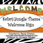 Safari/Jungle Welcome Sign FREEBIE