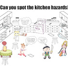 Safety in the Kitchen Cartoon