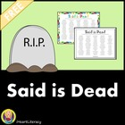 Said is Dead - Free Printable Synonym Poster