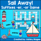 Sail Away Suffixes -er, -or Game