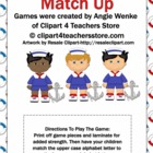 Sailor Boy Alphabet Match Up Game