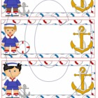 Sailor Boy Name Desk Plate