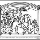Saint-Gaudens. The Shaw Memorial. Coloring page & lesson p