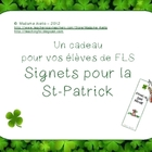 Saint Patrick's Day Bookmarks for French Students