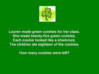 Saint Patrick's Day Powerpoint - Math Story Problems