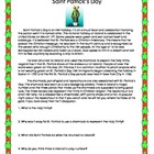 Saint Patrick's Day Reading Comprehension Worksheet for Re