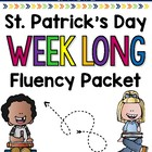 Saint Patrick's Day Weeklong Fluency Packet - Week 2 of Ma