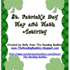 Saint Patrick&#039;s Day map and math activity