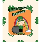 Saint Patty's Day Vocabulary Mini Unit
