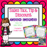 Sales Tax, Tip, and Discount Task Cards