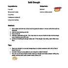 Salt Dough Recipe and Reading Comprehension Questions