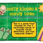 Salty Kisses and Sandy Toes!!   A 'r' controlled word game.