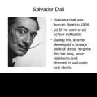 Salvador Dali and Surrealism Techniques Powerpoint