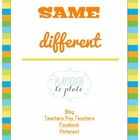 Same-Different: A Pre-Reading Game