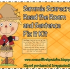 Sammie the Scarecrow Read the Room and Sentence Fix It Kit