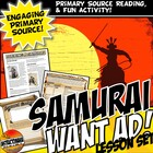 Medieval Japan Samurai CCS Reading & Want Ad Activity