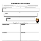 Samurai - Warrior Government Worksheet & Key
