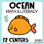 Sand-sational {Ocean} Math & Literacy Work Stations