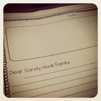 Sandy Hook Condolence Letter for Sandy Hook Elementary