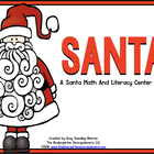 Santa And His Elves!  A Common Core Math And Literacy Cent