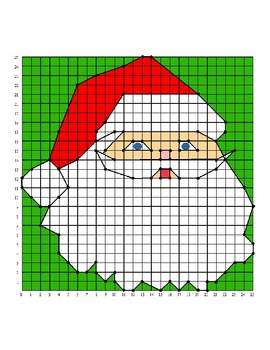 Santa Christmas Holiday Coordinate Graphing / Ordered Pair
