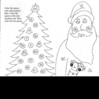 Santa Christmas coloring sheet - Even and odd numbers  FREE!