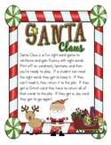 Santa Claus Sight Word Game