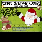 Santa&#039;s Christmas Cookie 1st Grade Sight Word Game