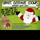 Santa's Christmas Cookie Nonsense Word Fluency Game