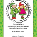 Santa&#039;s Helpers Spanish Color Words and Number Words Pocke