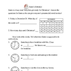 Santa's Schedule Telling Time Christmas activity FREE (Gr. 2-3)