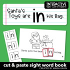 "Interactive Sight Word Reader ""Santa's Toys are in his Bag"""