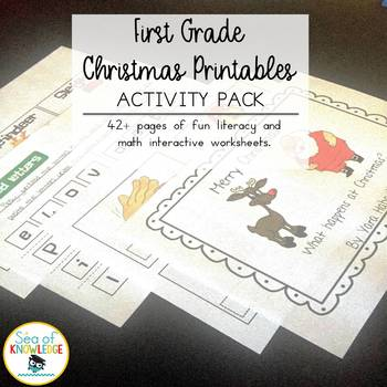 Santa's Wacky Reindeer~December Math and Literacy Activities.