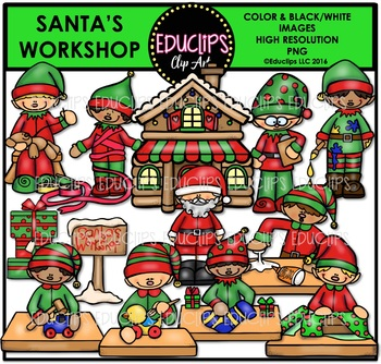Santa's Workshop Clip Art Bundle