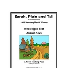Sarah, Plain and Tall      Whole Book Test