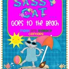Sassy Cat Goes to the Beach Math and Literacy Centers