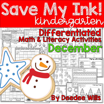 Save My INK: December Math and Literacy Activities