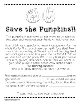 Save the Pumpkins!!