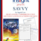 Savvy by Ingrid Law Short Answer &amp; Discuss Questions, Writ