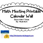 Saxon Math Meeting Calendar Pages 1st Grade
